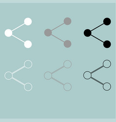 symbol to share white grey black icon vector image