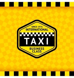 Taxi symbol with checkered background - 18 vector