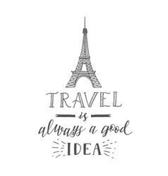 tourism banner with hand lettering quote hand vector image
