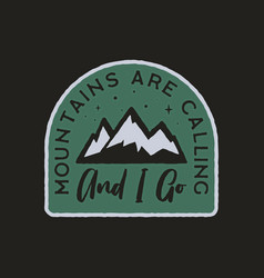 vintage camp logo mountain badge hand drawn vector image