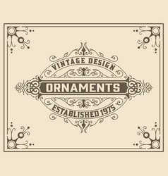 vintage floral ornament template vector image
