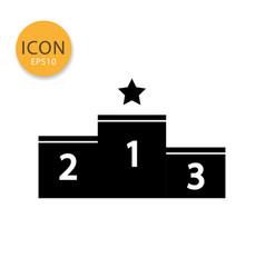 winner podium icon isolated flat style vector image