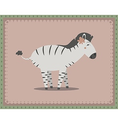 Zebra posing vector