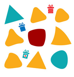 color triangle gift vector image
