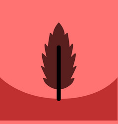 flat icon design collection leaf of tree vector image