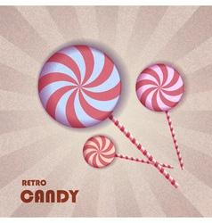 Retro candy vector