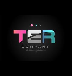 ter t e r three letter logo icon design vector image vector image