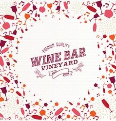 Vintage wine bar list background vector image vector image