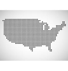 Abstract map of USA from round dots vector image vector image