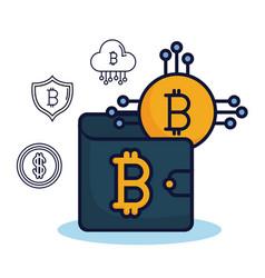 bitcoin market design vector image