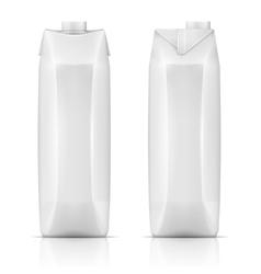 Juice drink carton pack vector