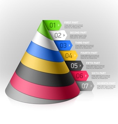 Layered cone design element vector image vector image