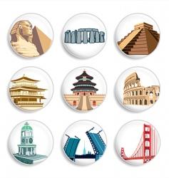 travel destination badges vector image