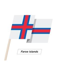 Faroe Islands Ribbon Waving Flag Isolated on White vector image vector image