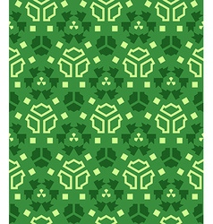 various green color abstract geometric seamless vector image