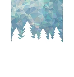 Winter Christmas background with empty space vector image