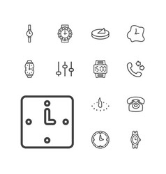 13 dial icons vector