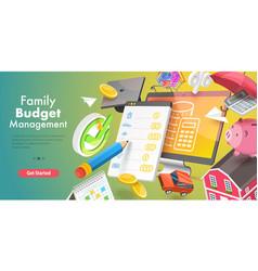 3d conceptual family budget vector image