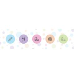 5 freeze icons vector