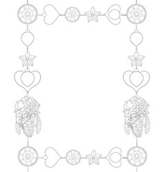 a christmas frame with decoration vector image