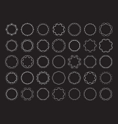 Abstract round frames set twisted design elements vector