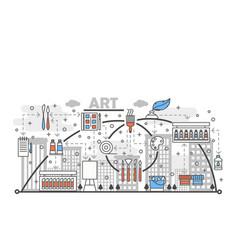 art concept flat line art vector image