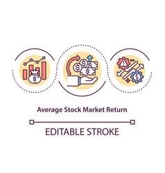 Average stock market return concept icon vector