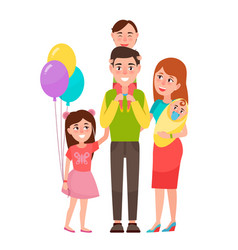 Big happy family icon vector