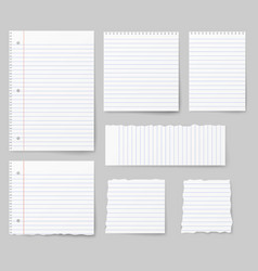 Blank white paper note paper isolated on vector