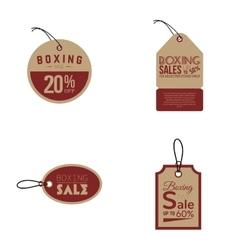 Boxing sale labels vector