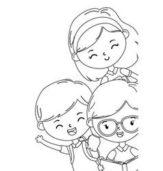 Boy and girls kids school design vector