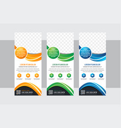 business concept roll-up banner design vector image