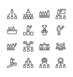 business leadership icon set vector image