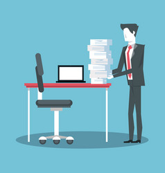 businessman working avatar vector image