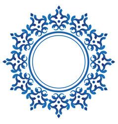 ceramic decorative round frame vector image