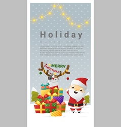 Christmas background Merry Christmas with Santa vector image
