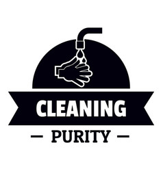 Cleaning purity logo simple black style vector