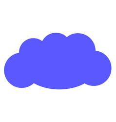 cloud flat icon symbol vector image