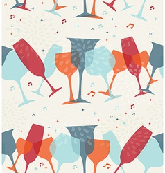 Cocktail glass seamless pattern background vector