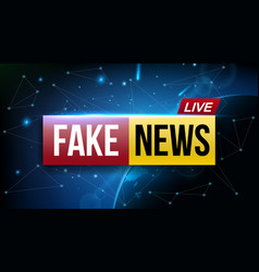 creative of fake news live vector image