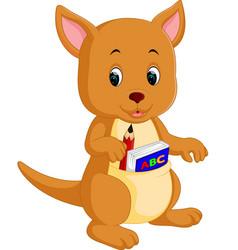 Cute kangaroo cartoon vector