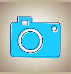 digital camera sign sky blue icon with vector image