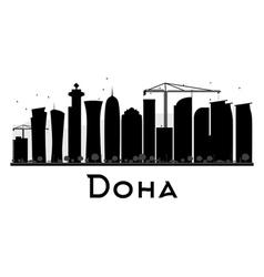 Doha silhouette vector