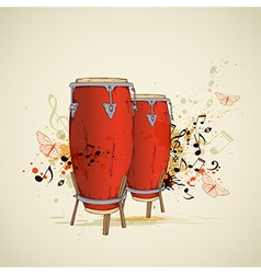 Drums background vector