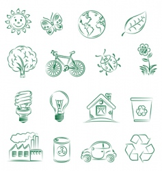 ecology set vector image vector image