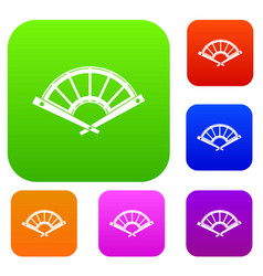 fan set collection vector image