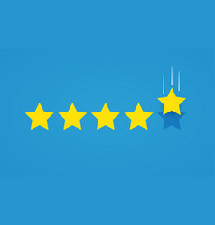 Feedback rating concept with five stars vector