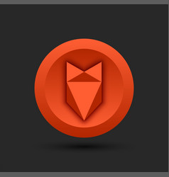 fox head logo low poly style for cryptocurrency vector image