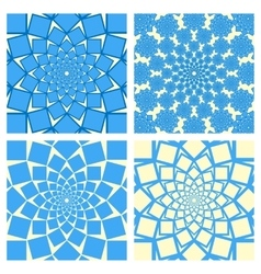 Geometric Background Set Oriental Style vector image