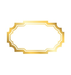 Gold frame simple golden white style vector